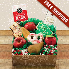 Winter Wonderland Holiday Fruit Gift Box