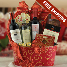 Wonderful Wine Trio Gift Basket