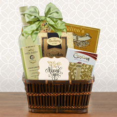 You're The Best White Wine Thank You Basket