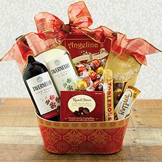Yuletide Treasures Wine Duo Gift Basket