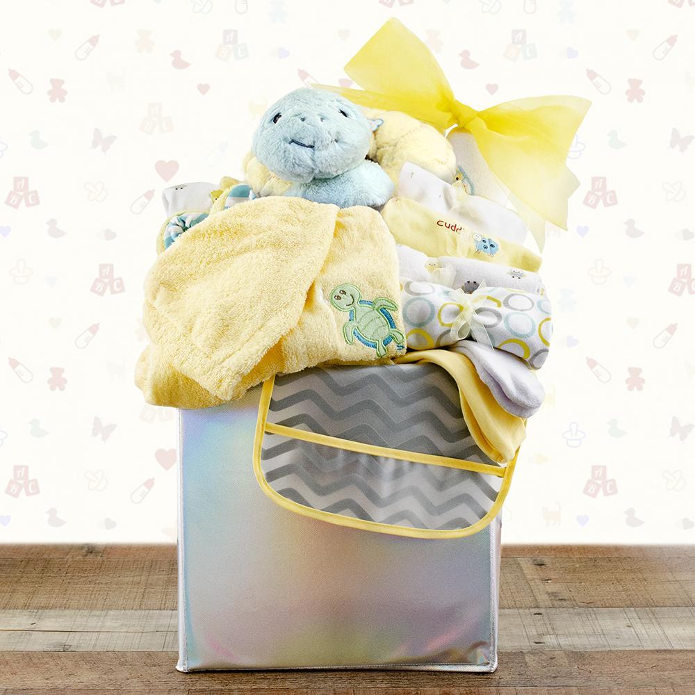 Babys First Wardrobe Gift Basket